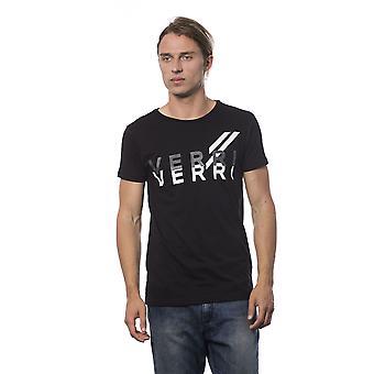 Mannen Zwarte Verri Korte Mouw T-shirt