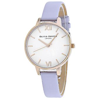 Olivia Burton Women's White Dial Watch - OB16DE09