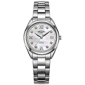 Rotary Women's Henley | Stainless Steel Bracelet | Diamond Set Dial LB05110/07/D Watch