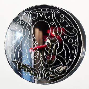 Mandala blekksprut sirkel gravert akryl speil