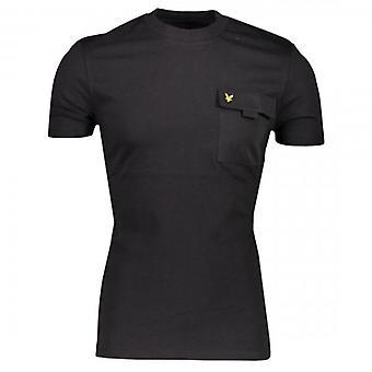 Lyle et Scott Chest Pocket Crew Neck T-Shirt Noir TS1236V