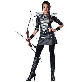Midnight Huntress Warrior Medieval Archer Katniss Hunter Women Costume