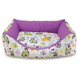 Arquivet Quadratisches Bulldoggen-Hundebett (Hunde , Erholung , Betten)