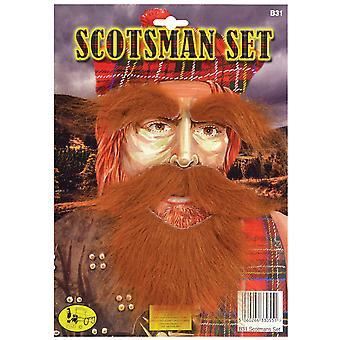 Bristol Novelty Mens Scotsman Hair Piece Set