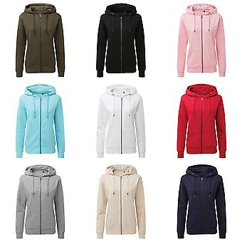 Asquith & Fox Womens/Ladies Zip-Through Organic Hoodie