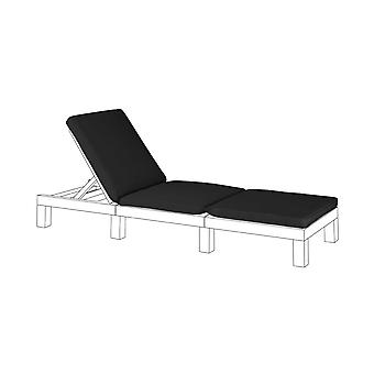 Gardenista Garden Sun Lounger Replacement Pad for Allibert Keter Daytona | Rattan Sunlounger Recliner Patio Furniture Cushion | Water Resistant & Lightweight | Hypoallergenic Fibre Filled (Black)