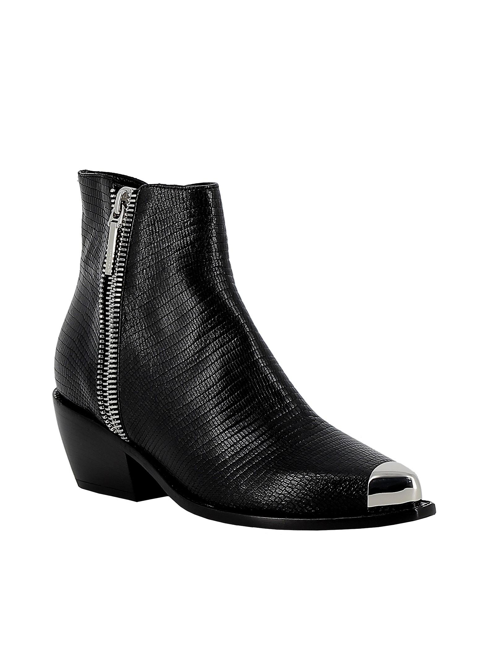Le Silla 3801n040m1ppidr001 Women's Black Leather Ankle Boots