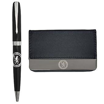 Chelsea FC Pen & Card Holder Business Set Boxed OFFICIAL Football Gift