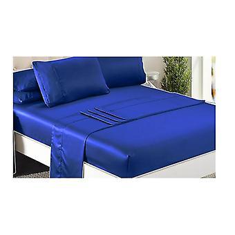 Dreamz Regina lux satin montate foaie de pernă plate pat set