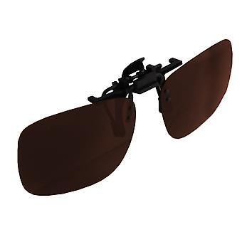 Sunglasses UV 400 Clip-on Polarizing Glass Brown S377_3S377_3