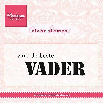 Marianne Design Clear Stamp - Voor De Beste Vader (NL) CS0932