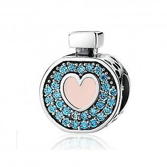 Charm En Argent Bouteille De Parfum D'amour - 5337