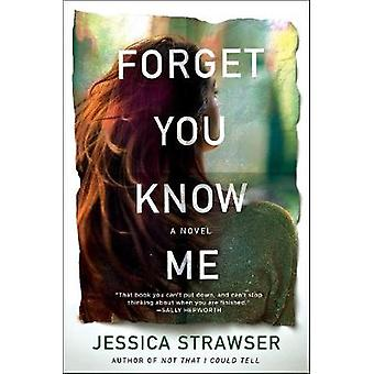 Forget You Know Me by Jessica Strawser - 9781250252975 Book