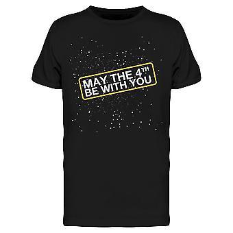 Toukokuu Neljäs Be With You W / Stars Tee Men's -Image Shutterstock Men's T-paita