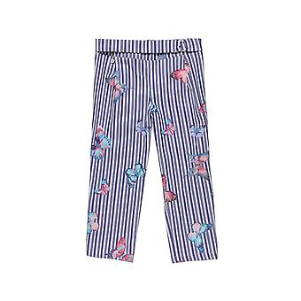 Alouette Girls' Striped Pants With All Over Motifs
