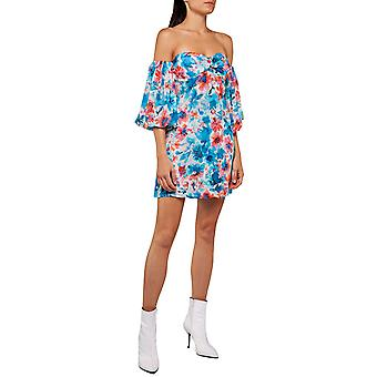Replay Women's All Over Floral Print Mini Dress