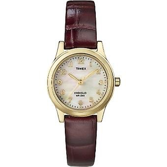 T21693, Timex Donne Elevated Classics Burgundy Abito Orologio
