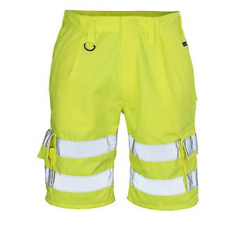 Mascot pisa hi-vis work shorts 10049-470 - safe classic, mens