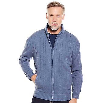 Chums Mens Cardigan Sherpa Lined