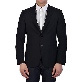 Tonello 06g455y1063u990 Men's Black Wool Blazer