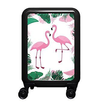 myTrolley Flamingos S, 4 rolls, 55 cm, 32 L, Black