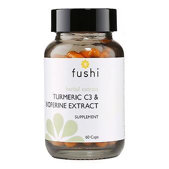Fushi Wellbeing Turmeric C3 & Bioperine Extract (500mg High Strength) Veg Caps 60 (F0021261)