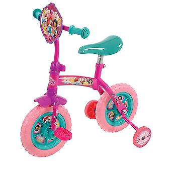 disney princess 2-in-1 10 inch training bike with removable stabilisers for ages