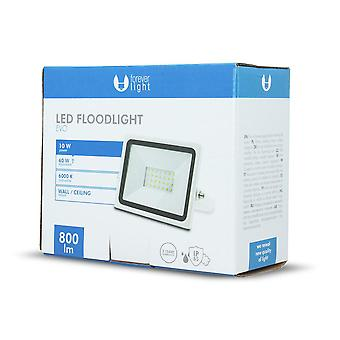 Forever EVO 10W LED-frontlys SMD |6000K| - Kald hvit
