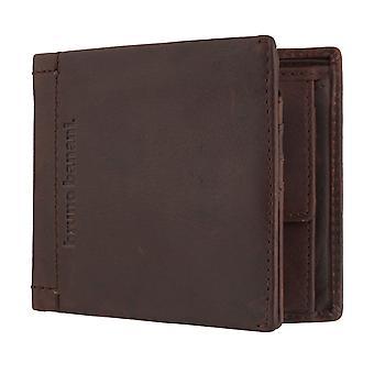 Bruno banani heren portemonnee wallet portemonnee Brown 6400