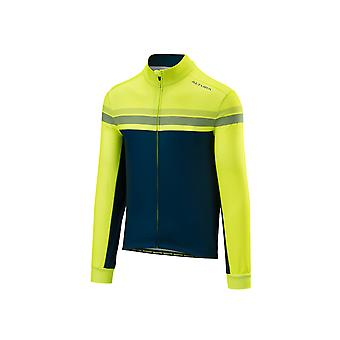 2018 Altura Night Vision 4 Long Sleeve Jersey Hi-Viz Yellow/Blue