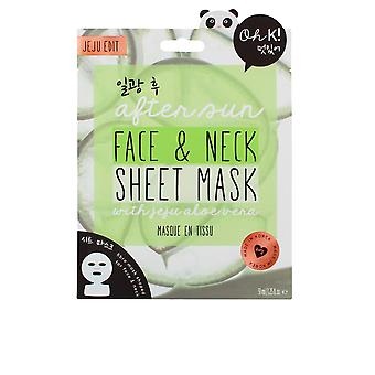 Oh K! After Sun Aloe Sheet Face And Neck Mask For Women