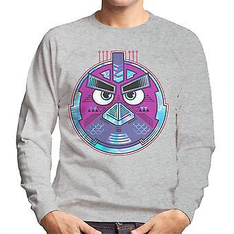 Vred Fugle Mech Bird Round Mænd's Sweatshirt