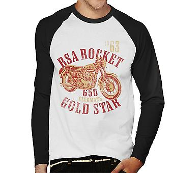 BSA Rocket 650 Clubmans Gold Star Men's Baseball Long Sleeved T-Shirt
