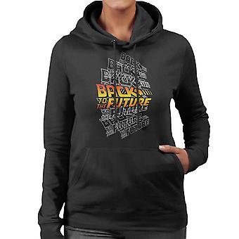 Back To The Future Classic Katmanlı Logo Women's Hooded Sweatshirt