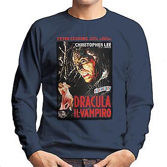 Hammer Horror Filme Dracula italienischen Film Poster Männer's Sweatshirt