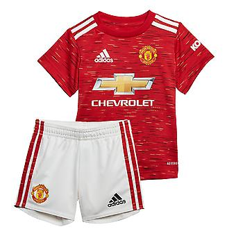 adidas Manchester United 2020/21 Kids Infant Baby Home Football Kit Red