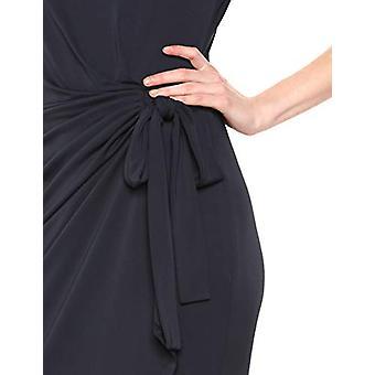 Brand - Lark & Ro Women's Cap Sleeve Bateau Neck Wrap Dress, Navy 2