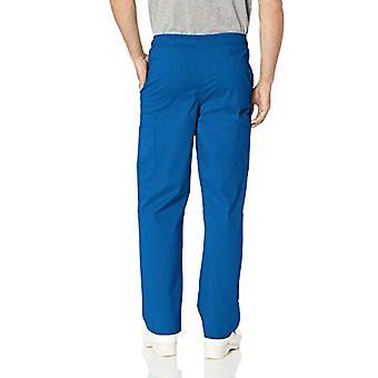 Essentials Menăs Quick-Dry Stretch Scrub Pant, Galaxy Blue, X-Small