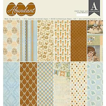 Authentique Abundant 12x12 Inch Paper Pad