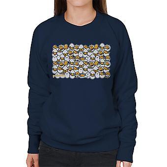 Gudetama Egg Shell Montage Women's Sweatshirt