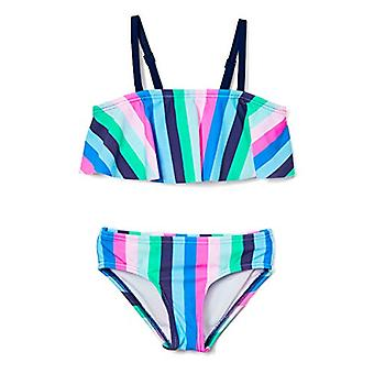 Kanu Surf Girls' Karlie Flounce Bikini Beach Sport 2-Piece Swimsuit, Vera Blu...