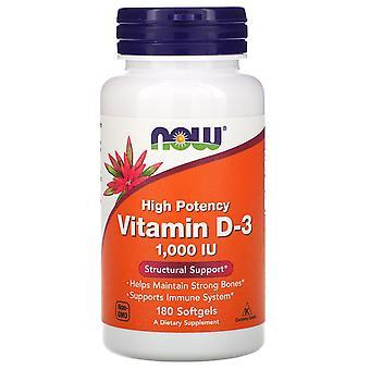 Now Foods, Vitamin D-3 High Potency, 1,000 IU, 180 Softgels