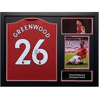 Manchester United Greenwood Signed Shirt (Framed)