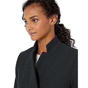 Marca - Daily Ritual Women's Wool Blend Belted Coat, Black Herringbone 8