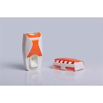 Koupelna Automatická zubní pasta dávkovač držák zubní kartáček Rodina Set Nástěnná mount Rack vana Ústní