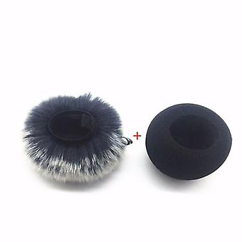 Furry Windscreen Muff Foam Filter - Microphone Windproof Cover For Zoom H1 95af