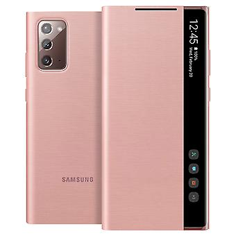 Back Cover for Galaxy Note 20 translucent Clear view Original - Rose Gold