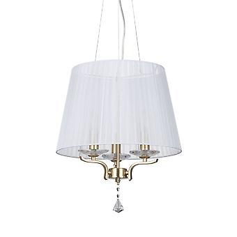 3 Leggero multi armonico Soffitto Ciondolo Light Satin Brass