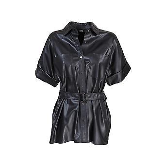 Karl Lagerfeld 205w1605blk Mujer's Camisa de poliéster negro