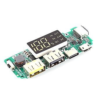 Qc Mobile Power Boost Module 5v 2.4a Charger Circuit Board Lcd Display